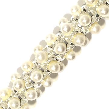 10mm  pearl reticulated chain - 1meter